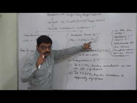 Linear Correlation 28 Standard Error and Probable Error of Coefficient of Correlation