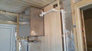 подводка водопровода к выносному баку в бане
