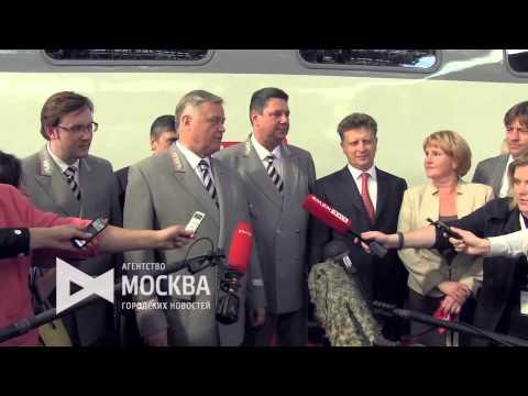 Запуск первого двухэтажного поезда сообщением Москва-Воронеж