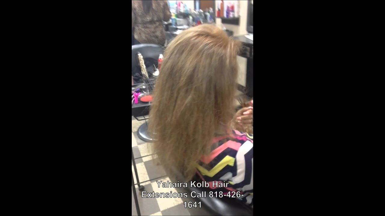 Micro Link And Weft Hair Extensions By Yahaira Kolb Los Angeles And