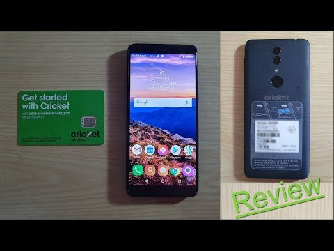 Alcatel ONYX from Cricket Wireless Unboxing and Review