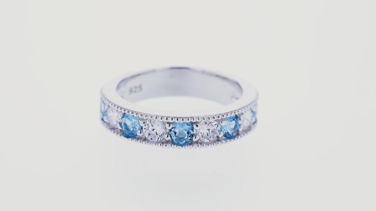 798afd880 Stříbrný eternity prsten se švýcarskými topazy a zirkony Tatton ...