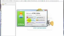 How to create a Website Project in CoffeeCup's HTML Editor