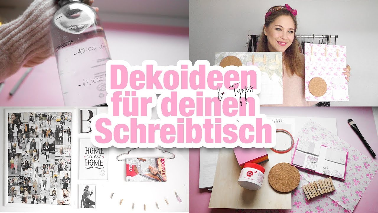 hacks f r deinen schreibtisch zum lernen i diy deko inspiration youtube. Black Bedroom Furniture Sets. Home Design Ideas