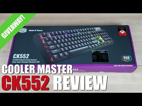 Cooler Master CK552 Wired Gaming Mechanical Gateron Red Switch RGB Back Lighting