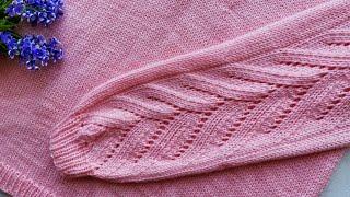 Узор для джемпера спицами / узор для свитера спицами / узор спицами