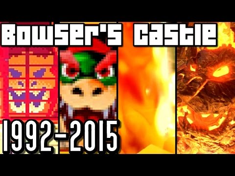 Mario Kart Bowser's Castle EVOLUTION 1992-2015 (Wii U, 3DS, N64, SNES)