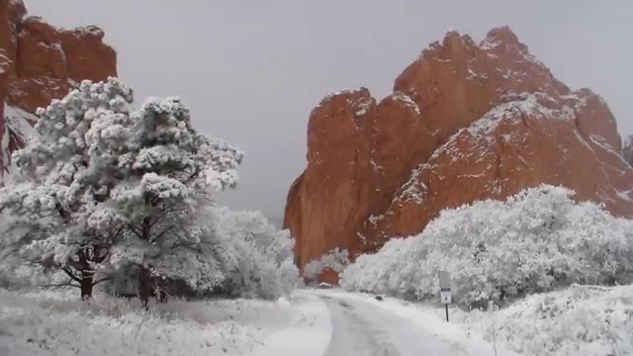 Garden of the Gods, Winter Wonderland - YouTube