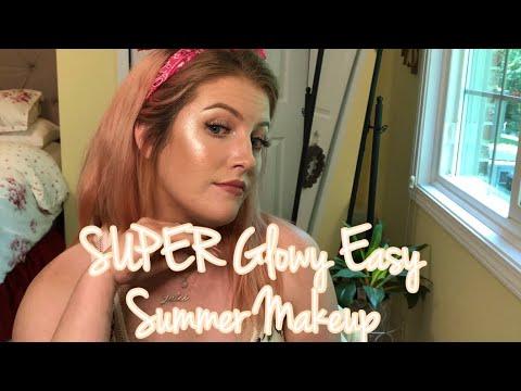 SUPER SUPER Glowy Easy Summer Makeup || JulesRancier
