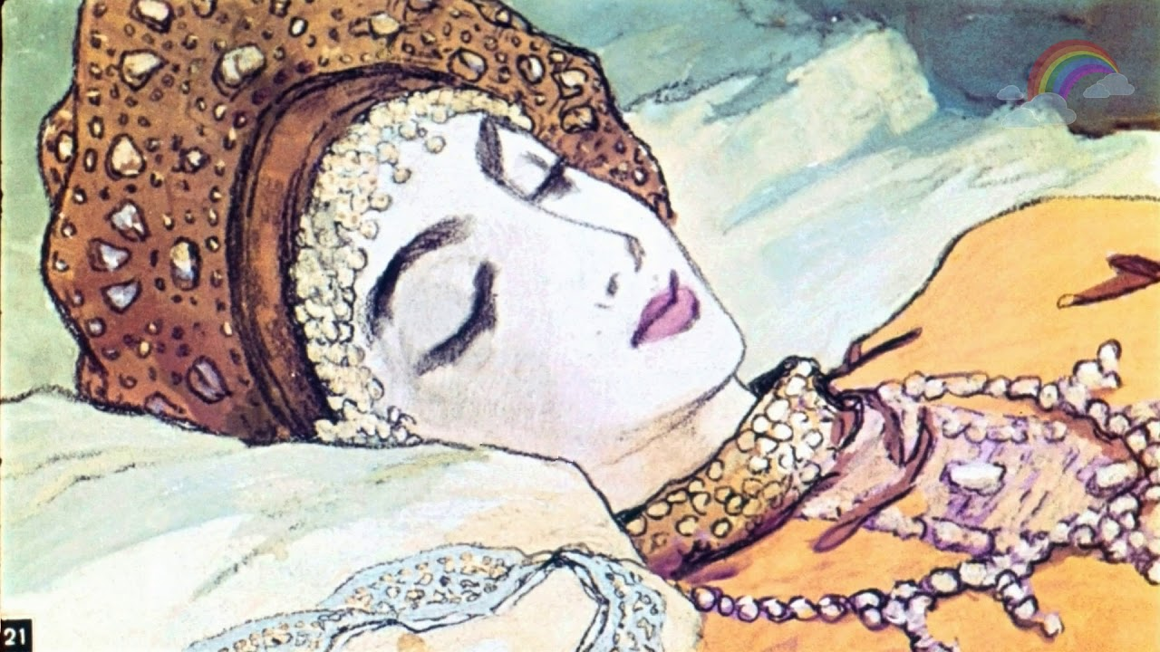 Картинка из сказки спящая царевна и семь богатырей