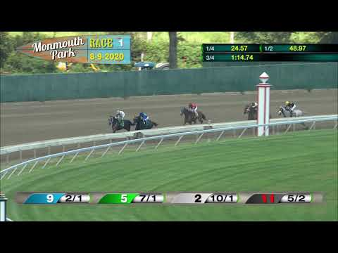 video thumbnail for MONMOUTH PARK 08-09-20 RACE 1