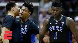 Duke survives Zion Williamson injury, beats Florida State on Cam Reddish