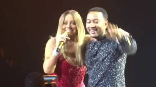 Mariah Carey and John Legend Touch My Body #1 To Infinity Live Las Vegas June 18