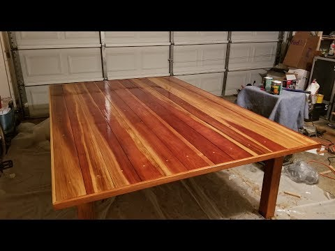 Outdoor table and ping pong table (woodworking project)