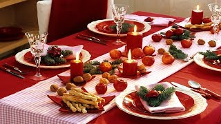 Как украсить Новогодний Стол ❄️ДЕКОР НОВОГОДНЕГО СТОЛА ❄️ Оформление Праздничного Стола на Новый Год
