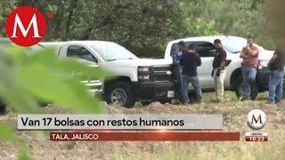 Localizan 17 bolsas con restos humanos en Tala, Jalisco