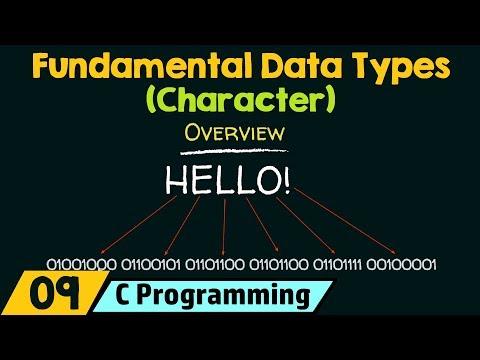 Fundamental Data Types − Character