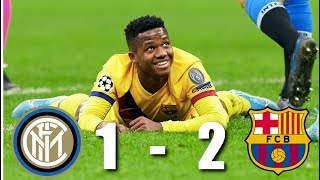 Inter Milan Vs Barcelona [1 2], Champions League, Group Stage 2019/20   Match Review