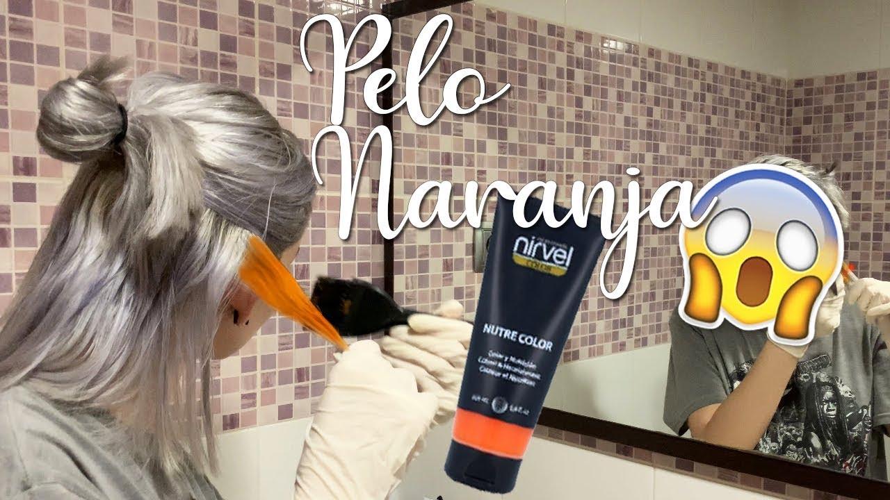crisantemo Risa rural  ME PONGO EL PELO NARANJA!! | Mascarilla Nirvel Color - YouTube
