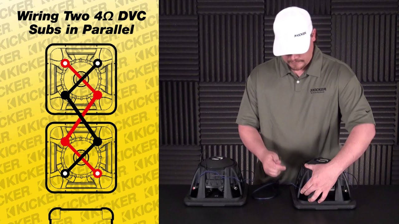 4 2ohm Speaker Wiring Diagram Subwoofer Wiring Two 4 Ohm Dvc Subs In Parallel Youtube