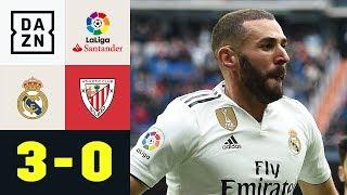 Dreifacher Karim Benzema schießt Bilbao ab: Real Madrid - Bilbao 3:0 | La Liga | DAZN Highlights