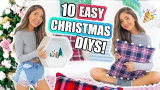 10 DIY CHRISTMAS DECORATIONS! Room Decor DIYs For The Holidays!