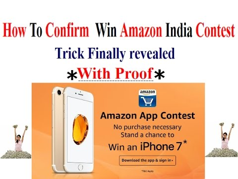 How to Confirm Win Amazon India Contest.Trick Finally Revealed with Proof . Must watch
