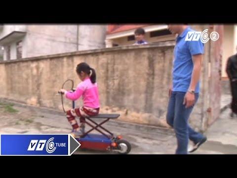 Xe đạp điện tự chế gập gọn như vali