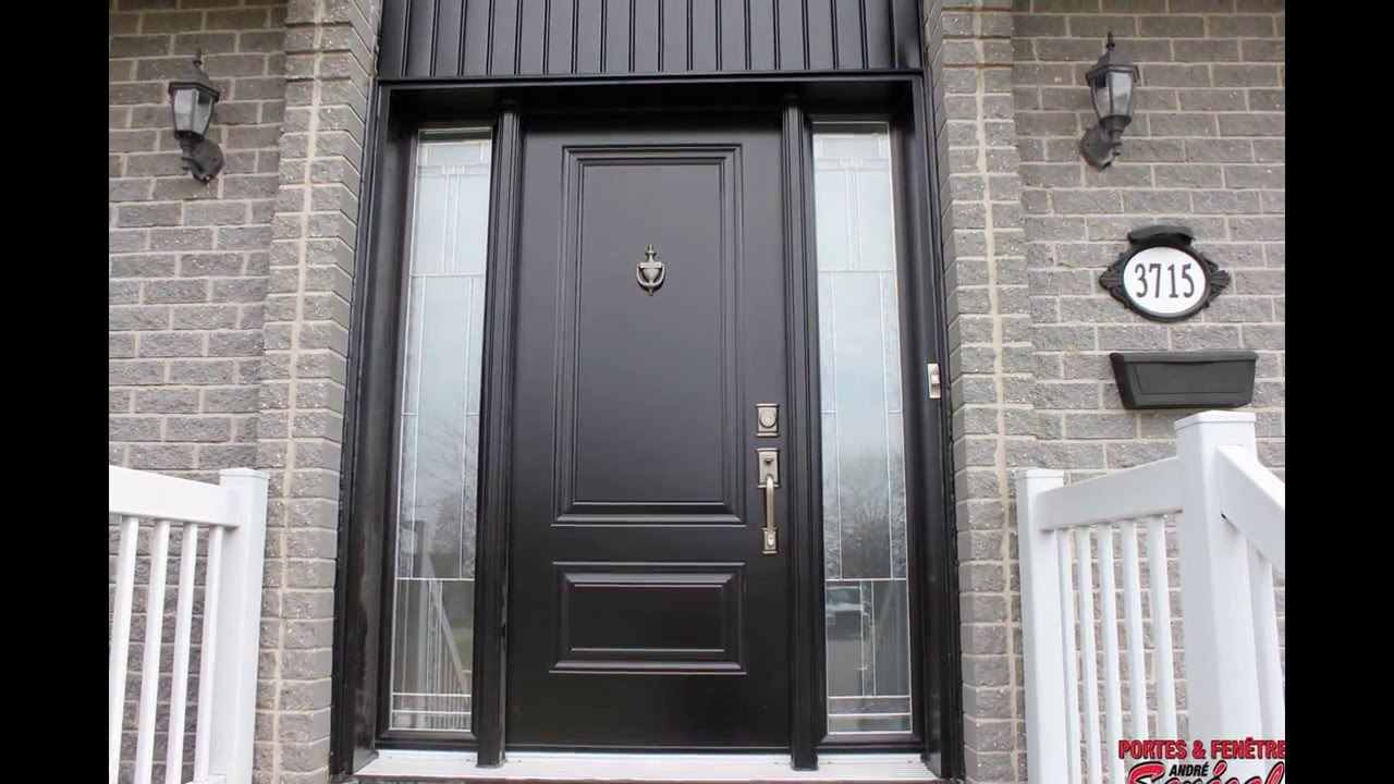 Portes d 39 entr e fa ade de maison front doors youtube for Double porte entree
