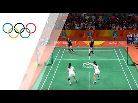 Japan's badminton team takes gold