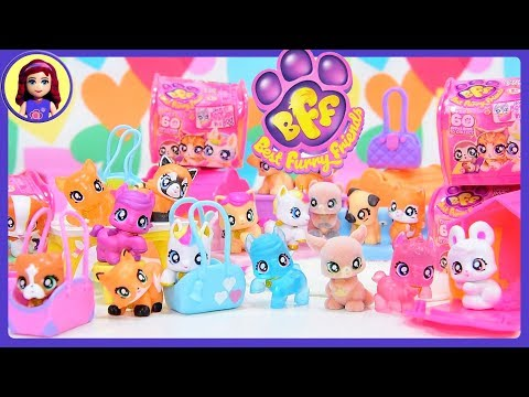 BFF Best Furry Friends Tiny Animal Collectible Toys Unicorn Puppy in Handbags
