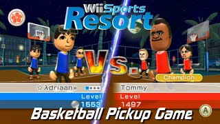 Wii Sports Resort - Basketball Pickup Game: vs Champion Tommy + All Stamps