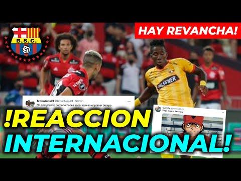 REACCION INTERNACIONAL FLAMENGO VS BARCELONA SPORTING CLUB SEMI FINAL COPA LIBERTADORES 2021