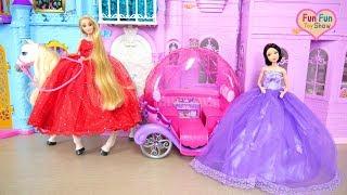 Disney Princess Snow-white Rapunzel Morning! Kamar tidur boneka putri Prinzessin Puppe Schlafzimmer