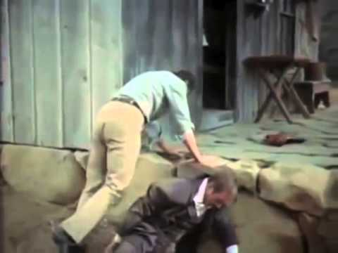 Ronald Reagan beats the crap out of John Payne at the Miner's Cabin on the Iverson Movie Ranch