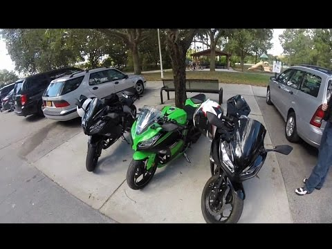 Kawasaki Ninja 300 Group Ride in Central Florida, Part 1