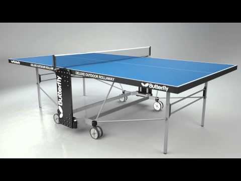 Butterfly Outdoor Deluxe Rollaway Table Tennis Table