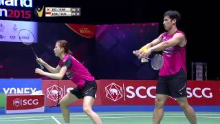 SCG Thailand Open 2015 | Badminton SF M4-XD | Ko/Kim vs Jor/Sus