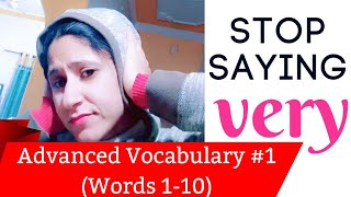Advanced Vocabulary Words #1- Instead of VERY || English Speaking || Your Tutor Harry
