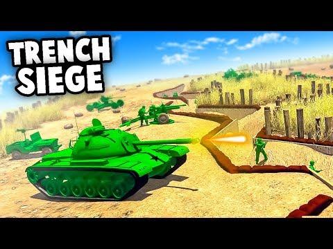 ARMY MEN Trench Defense!  Army Men of War NEW Update! (Army Men of War - MOWAS 2 WW2 Battle Sim Mod)