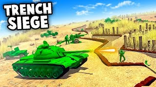 ARMY MEN Trench Defense!  Army Men of War NEW Update! (Army Men of War - MOWAS 2 WW2 Battle Sim Mod)