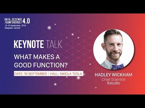 [DSC 4.0] What Makes a Good Function - Hadley Wickham keynote