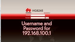 How to login 192.168.100.1!What is the username and password for 192.168.100.1!