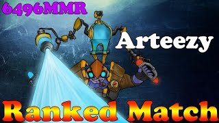 Dota 2 - EG.Arteezy PRO TINKER 6496MMR - Ranked Match : Gameplay