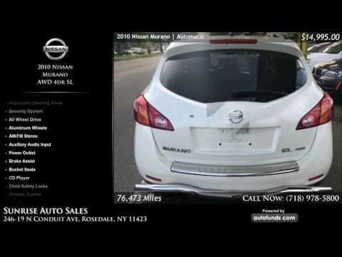 Used 2010 Nissan Murano | Sunrise Auto Sales, Rosedale, NY