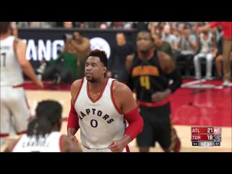 NBA 2K17 - Atlanta Hawks vs Toronto Raptors | Gameplay (PC HD) [1080p60FPS]
