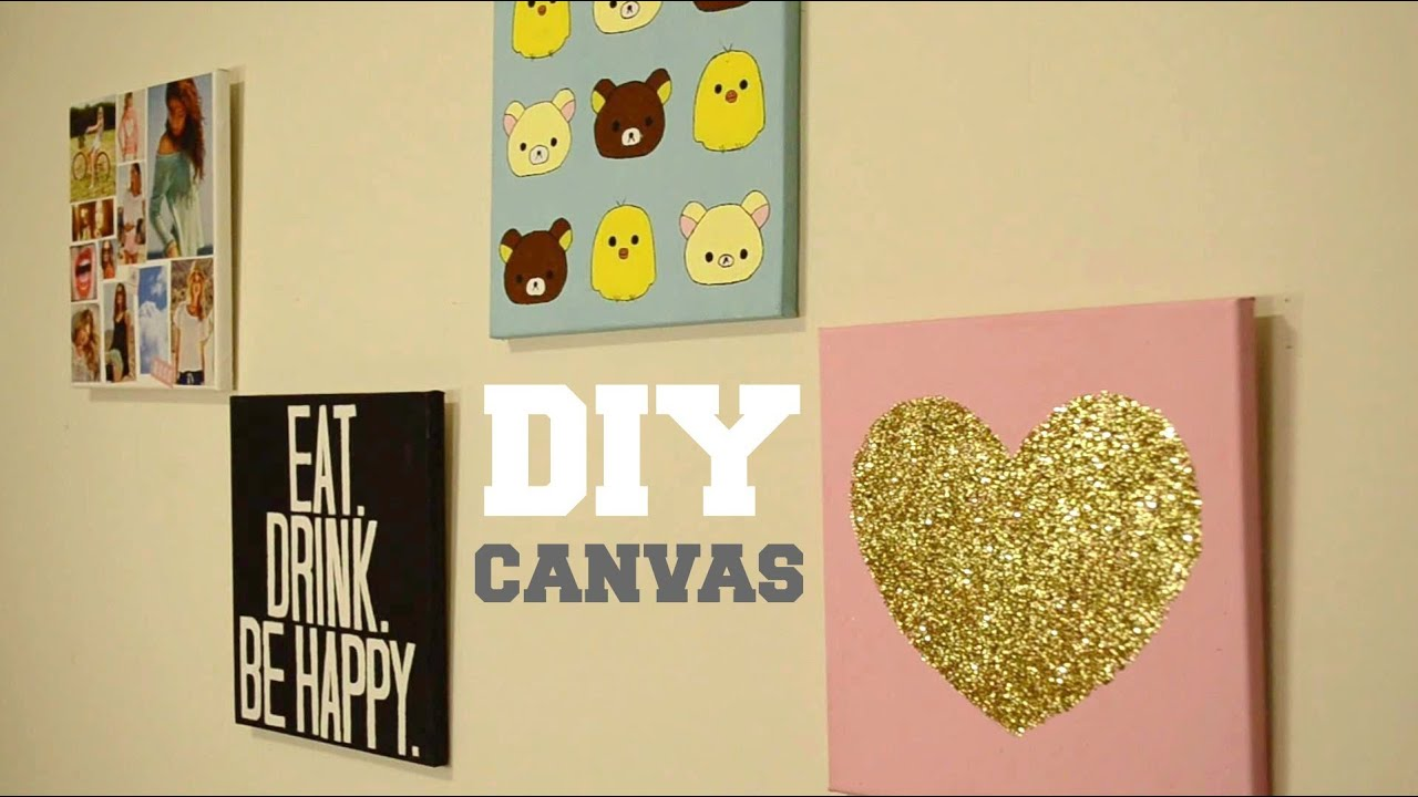 diy wall decor custom canvas youtube - Diy Wall Decor For Bedroom