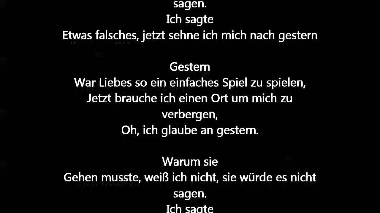beatles lyrics yesterday - 1280×720