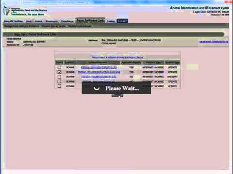 Sign up to a Farm Software Provider - DAFM AIM tutorial video