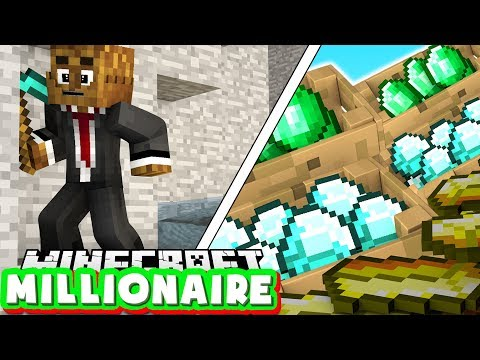 MAKING MY FIRST $10,000 - MINECRAFT MILLIONAIRE MOD PACK